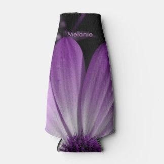 紫色のデイジーの花のボトルのクーラー ボトルクーラー