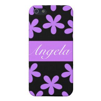 紫色のデイジーのiPhone 4/4Sのための堅い薬莢 iPhone 5 Cover