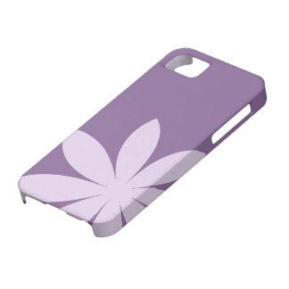 紫色のデイジーのiPhone 5の穹窖 iPhone SE/5/5s ケース