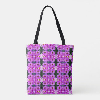 紫色のデイジー トートバッグ