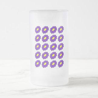 紫色のデイジー フロストグラスビールジョッキ