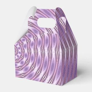 紫色のデザインのギフト用の箱 フェイバーボックス