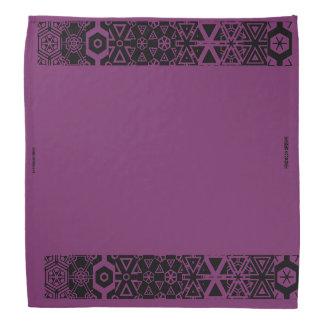 紫色のデザインのバンダナ バンダナ