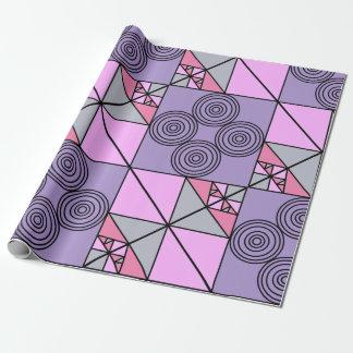 紫色のデザインの包装紙 ラッピングペーパー