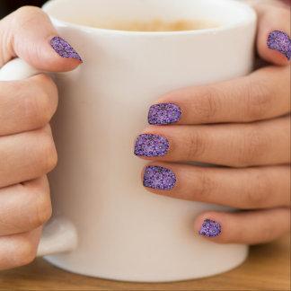 紫色のデザインのMinxのネイル ネイルアート