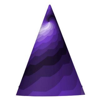 紫色のデジタル海洋波 パーティーハット