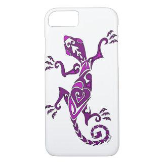紫色のトカゲの入れ墨かhenna iPhone 7ケース