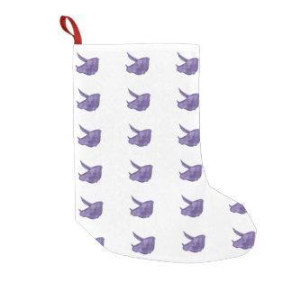 紫色のトリケラトプスのストッキング スモールクリスマスストッキング