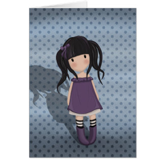 紫色のトロッコの女の子 カード
