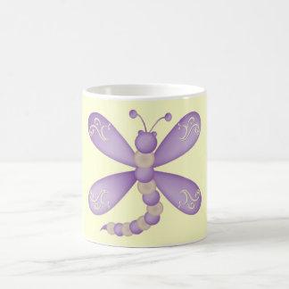 紫色のトンボのマグ コーヒーマグカップ