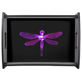 紫色のトンボの大きいトレイ トレー