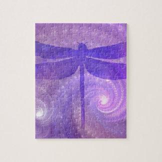 紫色のトンボ ジグソーパズル