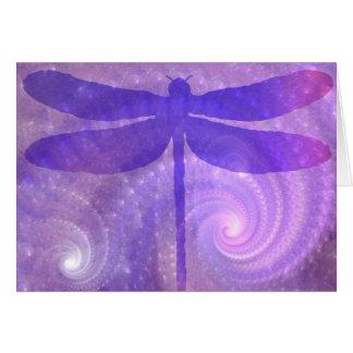 紫色のトンボ ノートカード