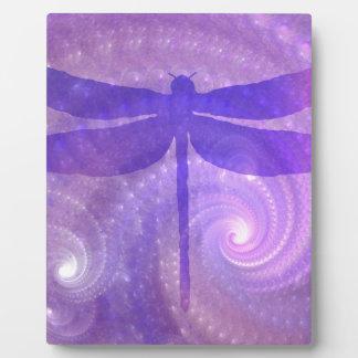 紫色のトンボ フォトプラーク