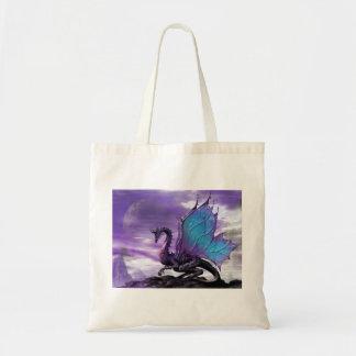 紫色のドラゴンのバッグ トートバッグ