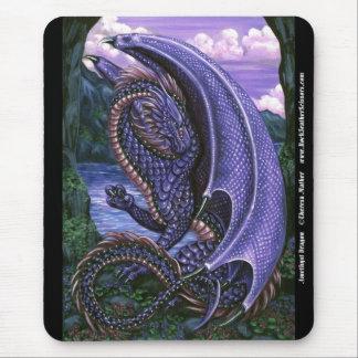 紫色のドラゴンのマウスパッド マウスパッド