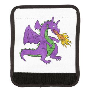 紫色のドラゴンの投げる炎 ラゲッジ ハンドルラップ