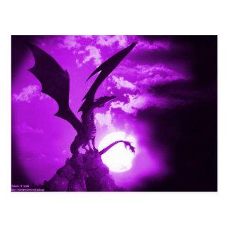 紫色のドラゴン2 ポストカード