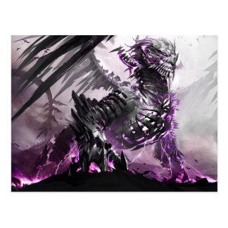 紫色のドラゴン5 ポストカード