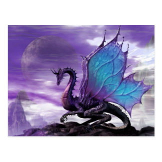 紫色のドラゴン ポストカード
