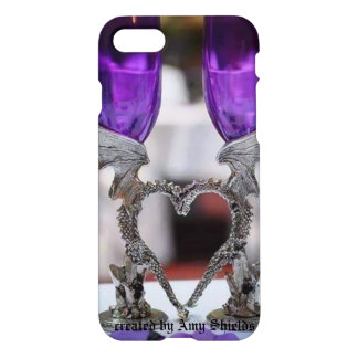 紫色のドラゴン iPhone 8/7 ケース