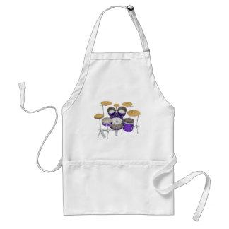 紫色のドラムキット: スタンダードエプロン