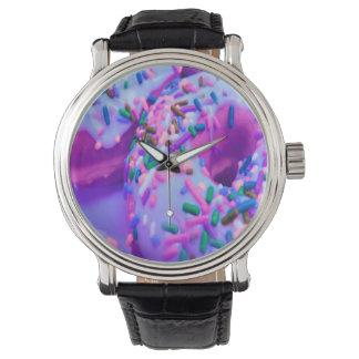 紫色のドーナツの腕時計 腕時計