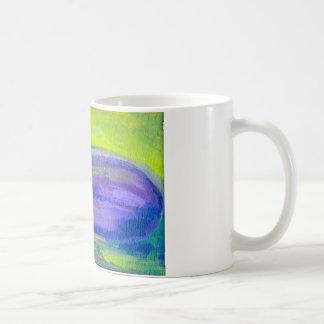 紫色のナスの絵画 コーヒーマグカップ