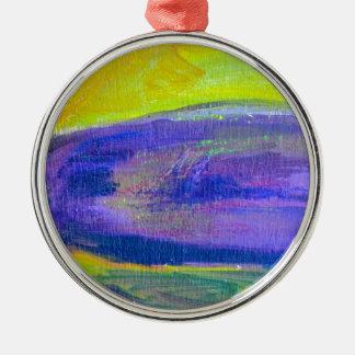 紫色のナスの絵画 メタルオーナメント