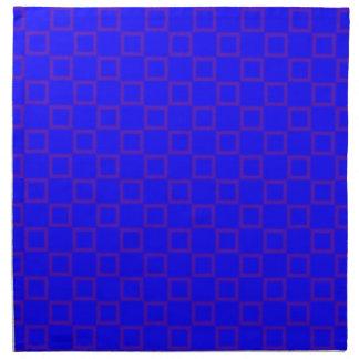 紫色のナプキンが付いているクラシカルな青 ナプキンクロス
