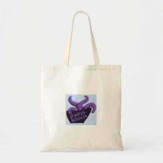 紫色のヌードルのトートバック トートバッグ