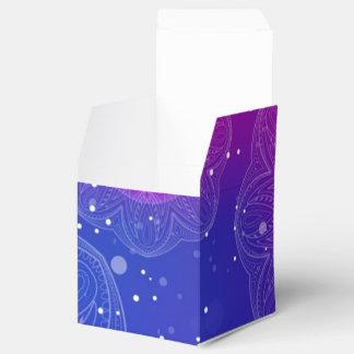 紫色のネオン曼荼羅パターン フェイバーボックス
