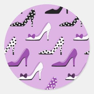 紫色のハイヒール ラウンドシール