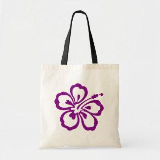 紫色のハイビスカスの花 トートバッグ