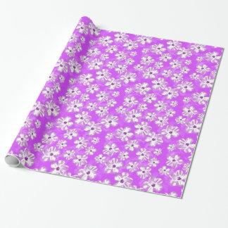 紫色のハイビスカスの花 ラッピングペーパー