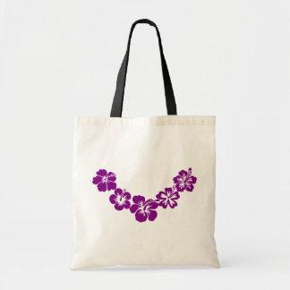 紫色のハイビスカスのleis トートバッグ