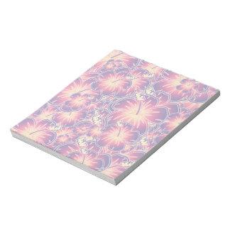 紫色のハイビスカス ノートパッド