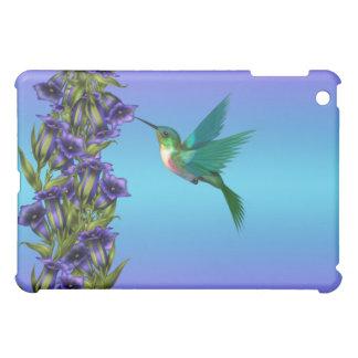 紫色のハチドリのリンドウのクリスタル・バイオレットCas iPad Mini Case