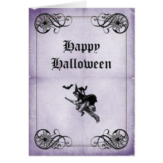 紫色のハッピーハローウィン カード