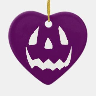 紫色のハッピーハローウィン セラミックオーナメント