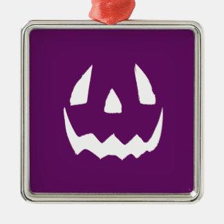 紫色のハッピーハローウィン メタルオーナメント