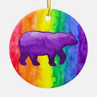紫色のバイオレットは虹の洗浄円のオーナメントに関係します セラミックオーナメント