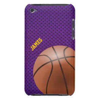 紫色のバスケットボールのカスタムなipod touchの場合 Case-Mate iPod touch ケース