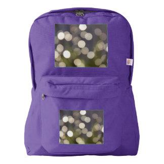紫色のバックパックの白い《写真》ぼけ味ライト AMERICAN APPAREL™バックパック