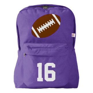 紫色のバックパック: フットボール AMERICAN APPAREL™バックパック