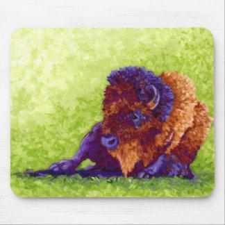 紫色のバッファロー マウスパッド