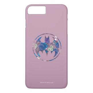 紫色のバラのこうもり信号 iPhone 8 PLUS/7 PLUSケース