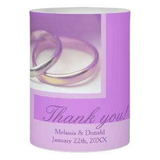 紫色のバラの結婚式の引き出物 LEDキャンドル
