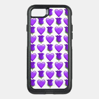 紫色のバラのEmojiのiPhone 7のオッターボックスの場合 オッターボックスコミューターiPhone 8/7ケース