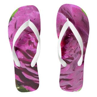 紫色のバラ ビーチサンダル